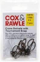 Stainless Steel Crane Swivel with Tournament Snap
